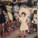 Caz Gaddis as a kid